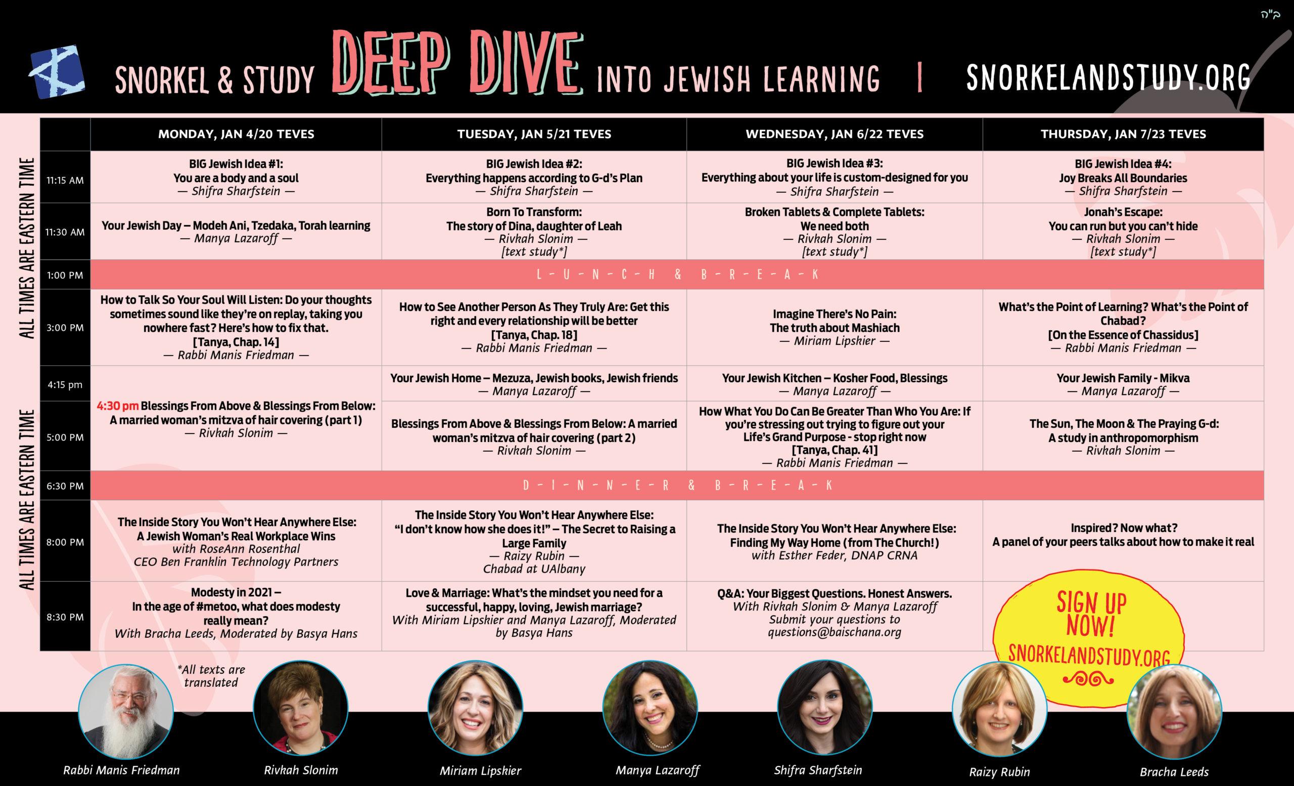Deep dive 2021 Scheduleweb